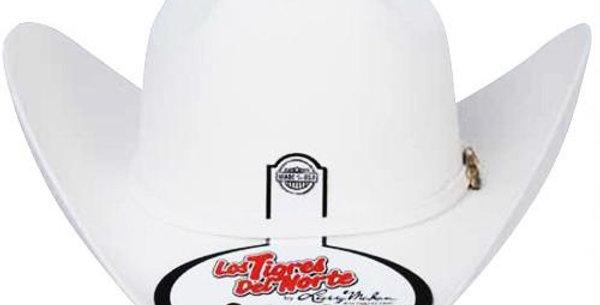 8x Larry Mahan El Tigre Fur Felt Cowboy Hat White