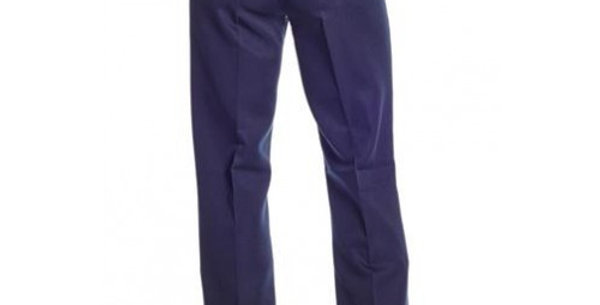 Circle S Men's Apparel - Solid Polyester Dress Ranch Pant - Navy
