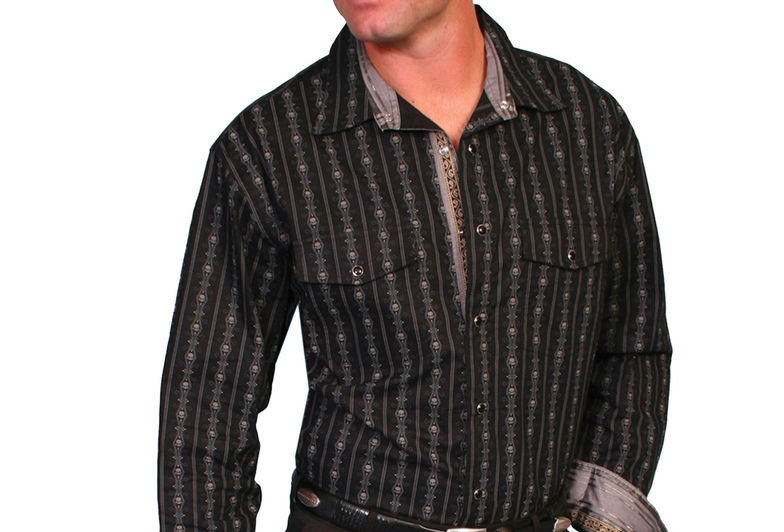Scully Fancy Striped Western Shirt