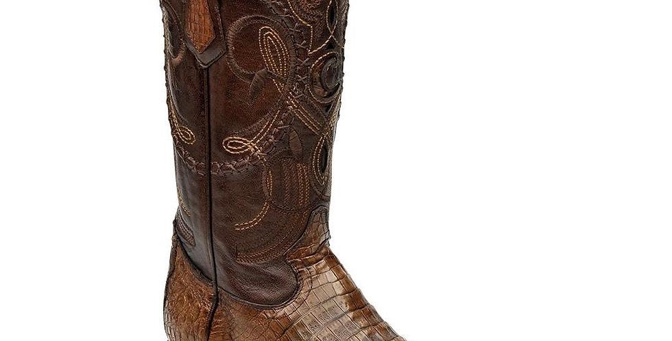 Cuadra Men's Porto Caiman Belly Cowboy Boots - Maple
