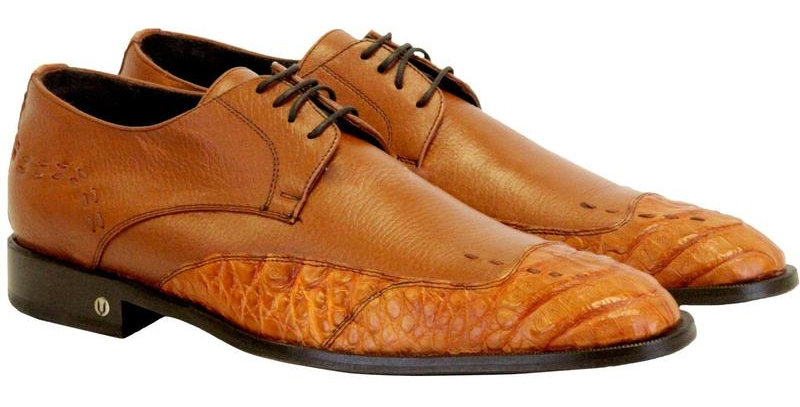 Men's Vestigium Genuine Caiman Belly Derby Shoes Handcrafted