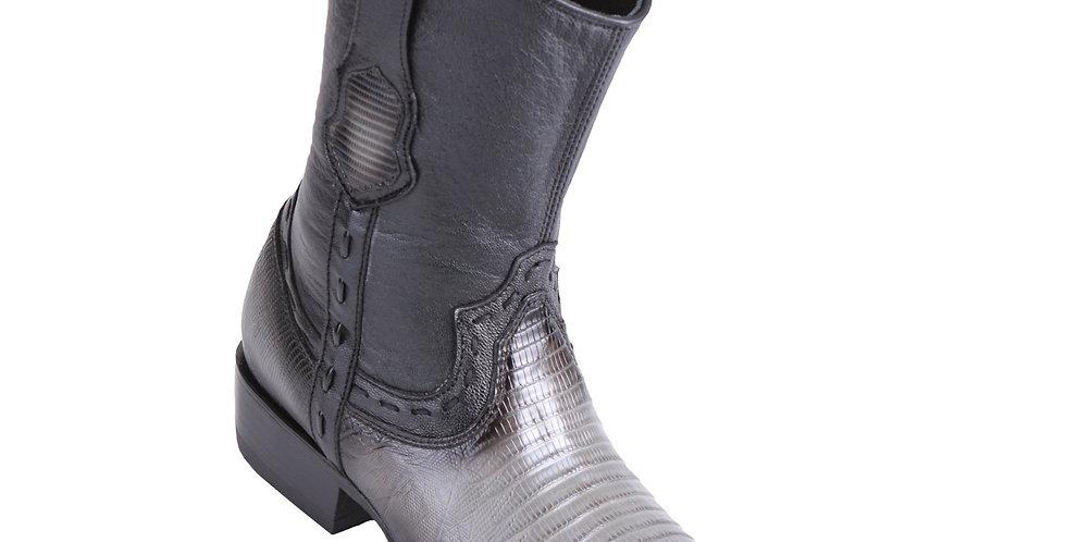 King Exotic Men's Lizard Teju Boots Faded Grey - H79B Dubai Toe
