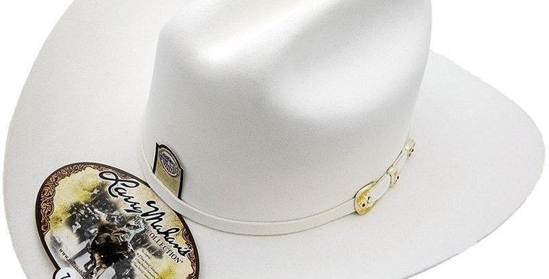 6x Larry Mahan Real Fur Felt Cowboy Hat White