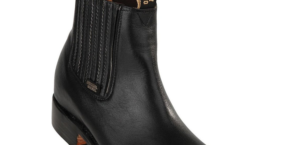 Original Michel Deer Black Ankle Boots