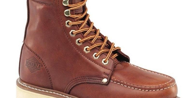 "Bonanza Men's 8"" Mocc Toe Work Boot"