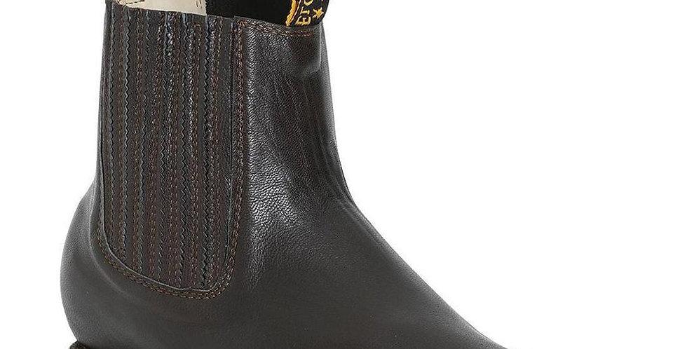 El General Men's Charro Square Toe Boots