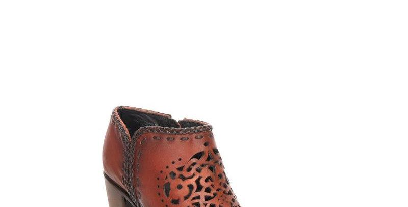 Women's Cuadra Orange Bovine Leather Boots Handcrafted