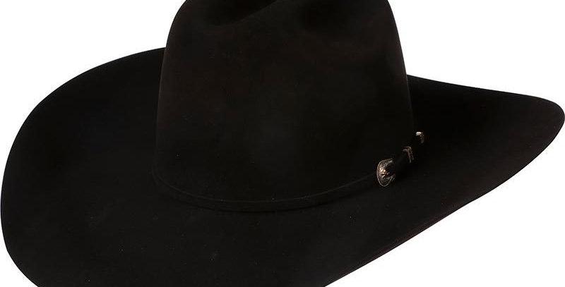 """Amercian 500X Black 4-1/4"""" Brim Felt Cowboy Hat"""