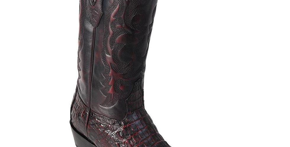 Los Altos Men's Caiman Horn-Back Western Boots Round Toe