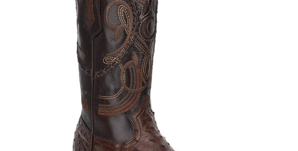 Cuadra Men's Kango Tabaco Ostrich Cowboy Boots R-Toe