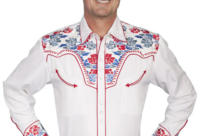 Scully Multi-Colored Floral Embroidered Shirt - Big and Tall