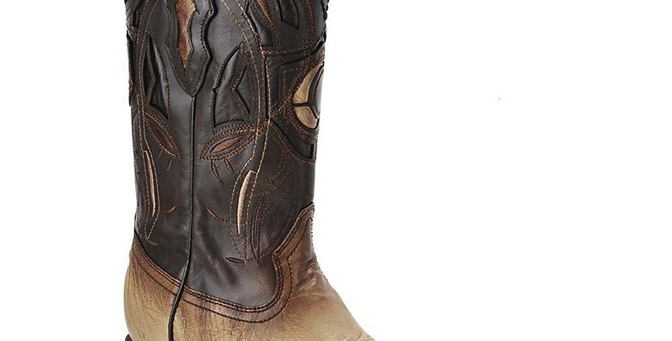 Cuadra Ostrich Belly Wide Square Toe Boots