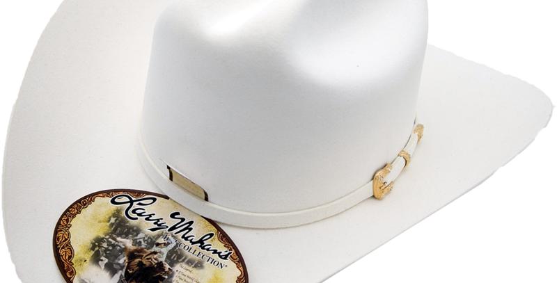30x Larry Mahan Opulento Fur Felt Cowboy Hat White
