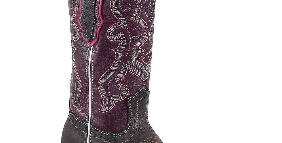 Quincy Women's Chocolate Square Toe Boots