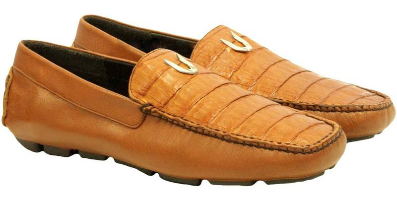 Men's Vestigium Genuine Caiman Belly Loafers Handcrafted