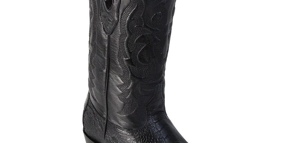 Los Altos Round Toe Ostrich Leg Boots