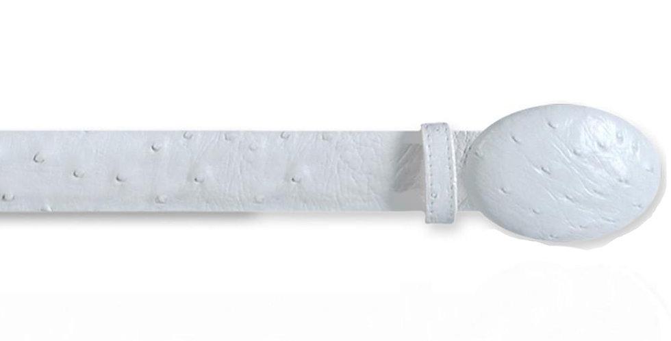 Los Altos Men's White Ostrich Cowboy Belt
