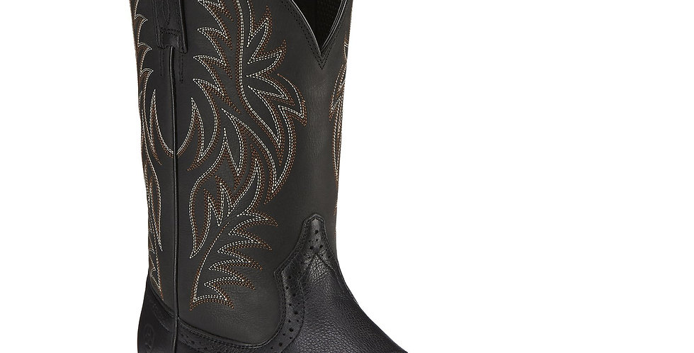 Ariat Sports Western Square Toe Boots Black Deertan