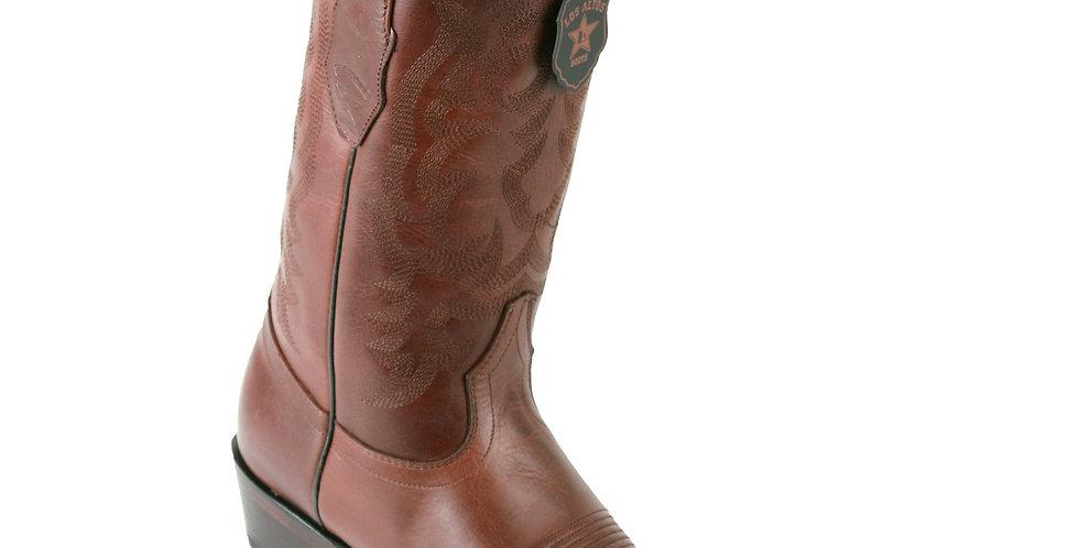 Los Altos Brown R-Toe Pull Up Cowboy Boots