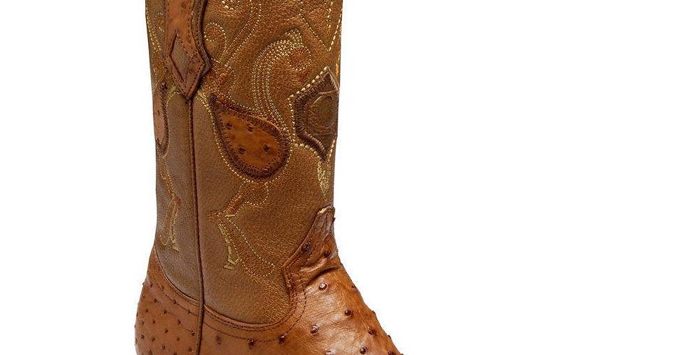 Cuadra Men's Traditional Ostrich Western Boots - Brandy