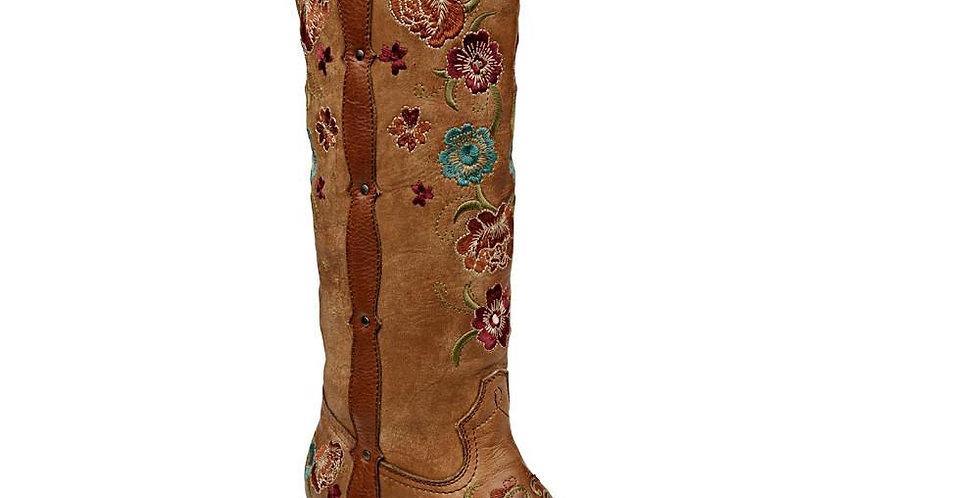 Cuadra Ladies Honey Flower Embroidered Tall Boot