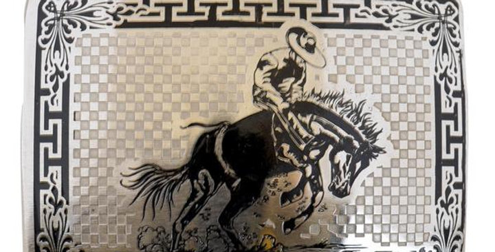 METAL BUCKLE MARE'S HORSE BUCKLE WD045