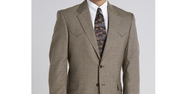 Circle S Men's Apparel - Plano Sportcoat - Donegal Brown