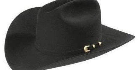 30x Larry Mahan Opulento Fur Felt Cowboy Hat Black