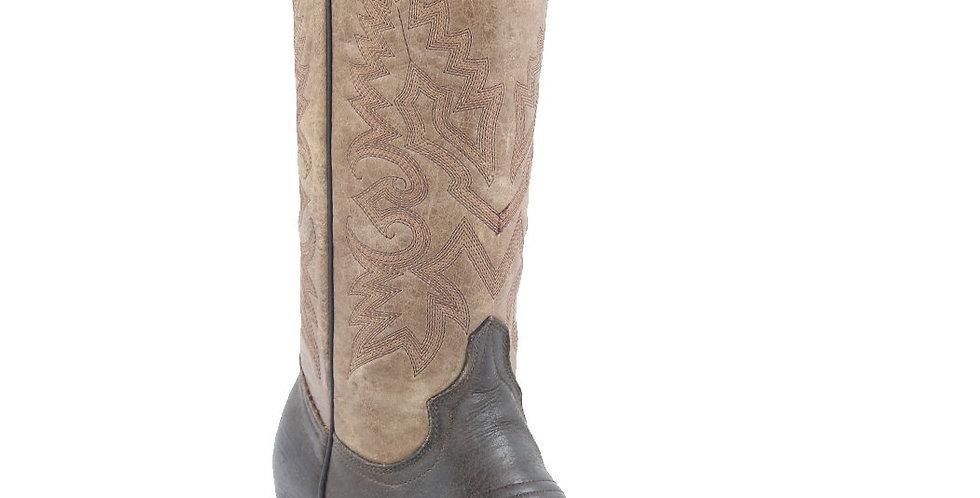 White Diamonds Boots Women's Brown Wide Square Toe Boots