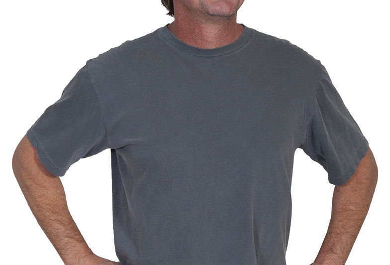 Scully Men's Charcoal Basic Crew Neck T-Shirt