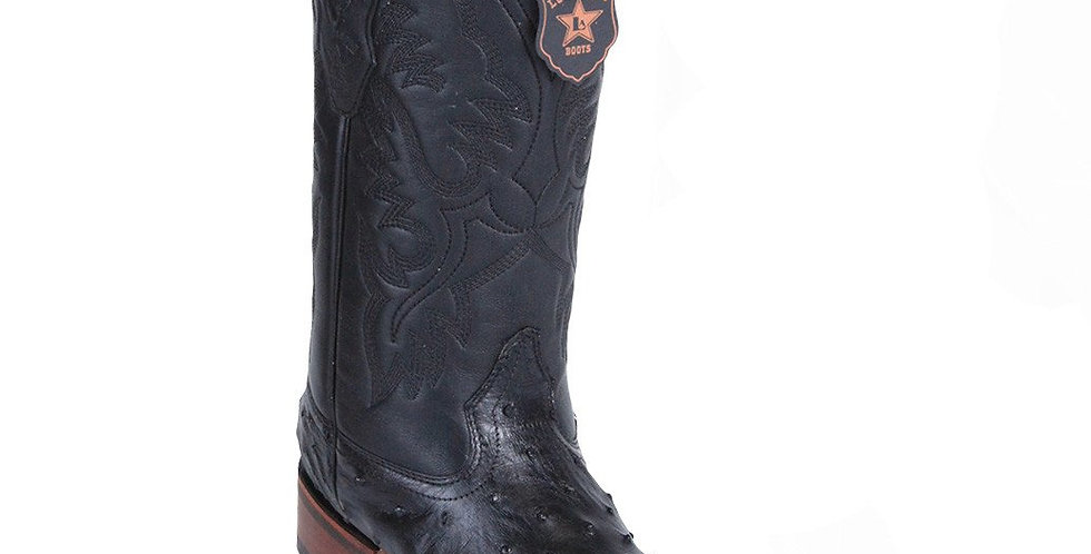 Los Altos Wide Square Toe Ostrich Boots