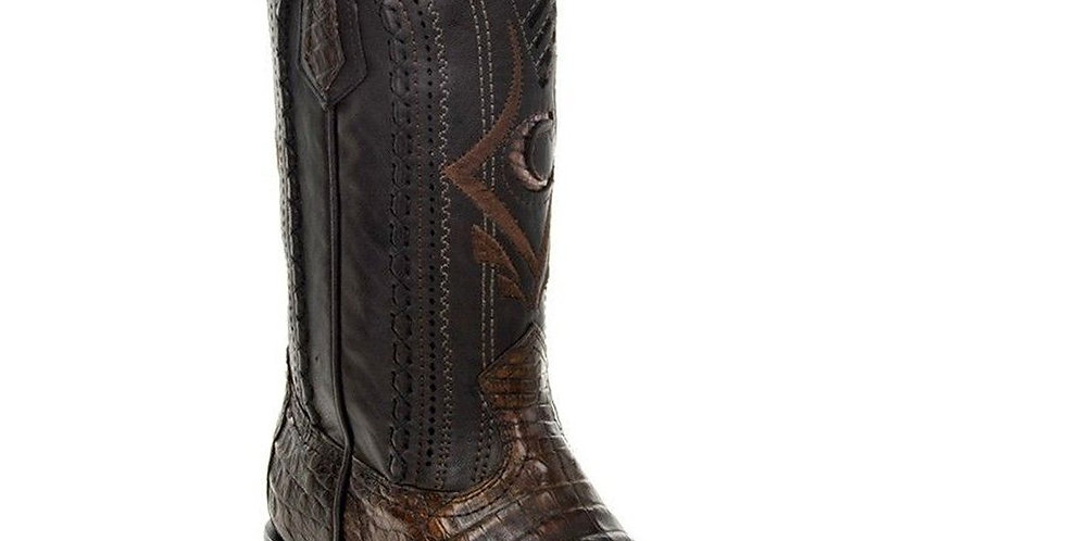 Cuadra Men's European Caiman Boot -Lumber Bone