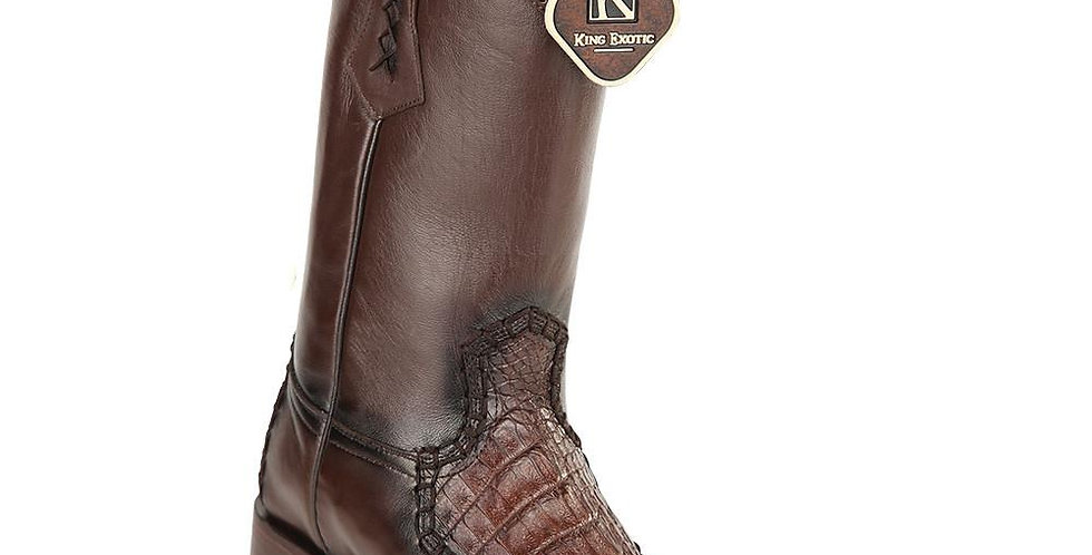 King Exotic Caiman Belly European Toe Boots
