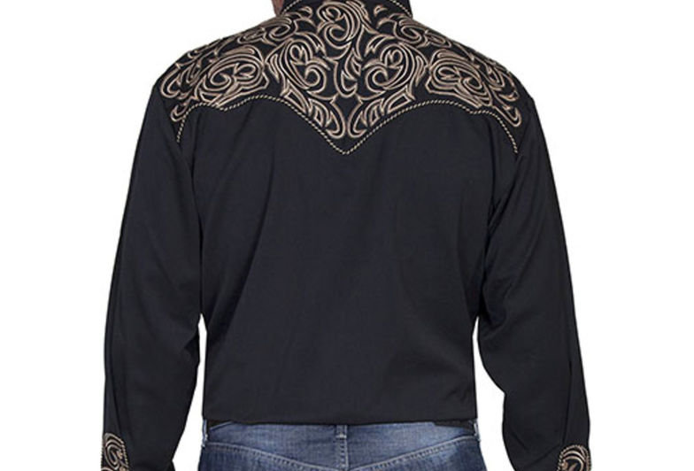Scully Embroidered Scroll Western Shirt