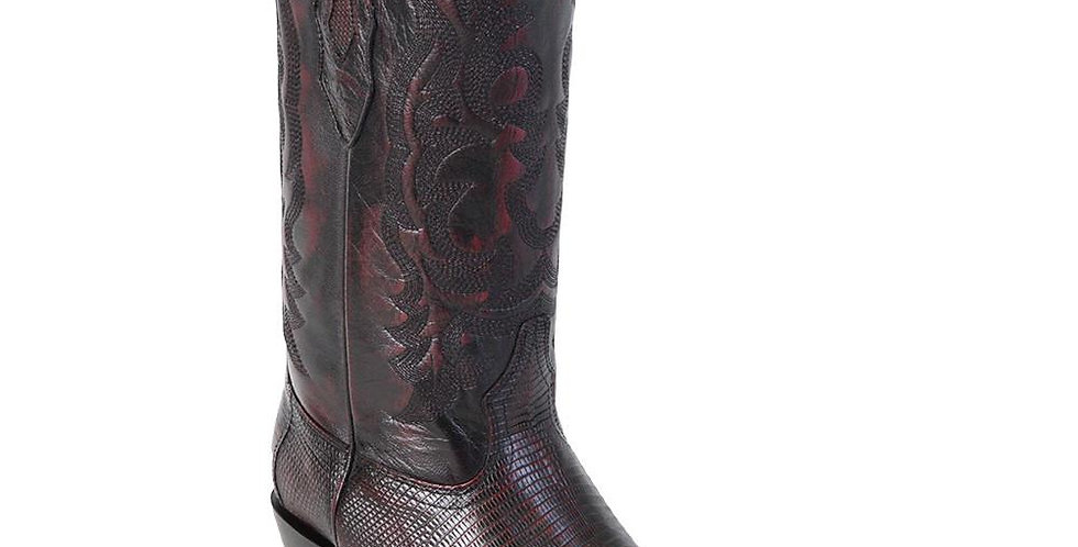 Los Altos Boots Men's Lizard Cowboy Boots J-Toe