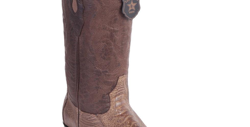 Los Altos - Men's Brown Grasso Ostrich Leg Boots R-Toe
