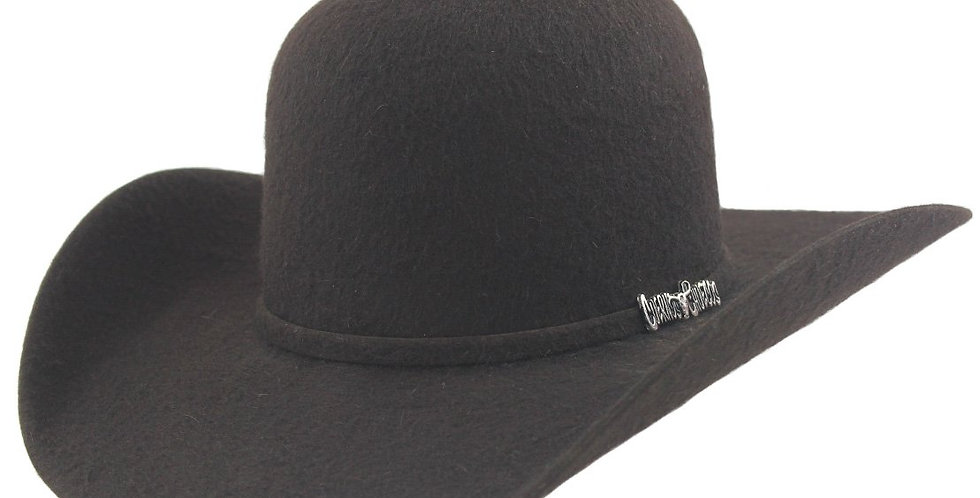 Cuernos Chuecos 10x Chocolate Grizzly Fur Felt Open Crown Cowboy Hat