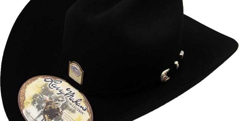 6x Larry Mahan Real Fur Felt Cowboy Hat Black