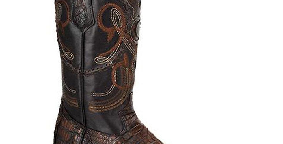 Cuadra Men's Caiman Belly Cowboy Boots - Lumber Bone