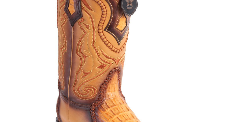 Los Altos Boots Caiman Tail 3x Toe Stitched Boots - Faded Buttercup