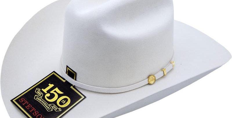 100x El Presidente Stetson Hat - White