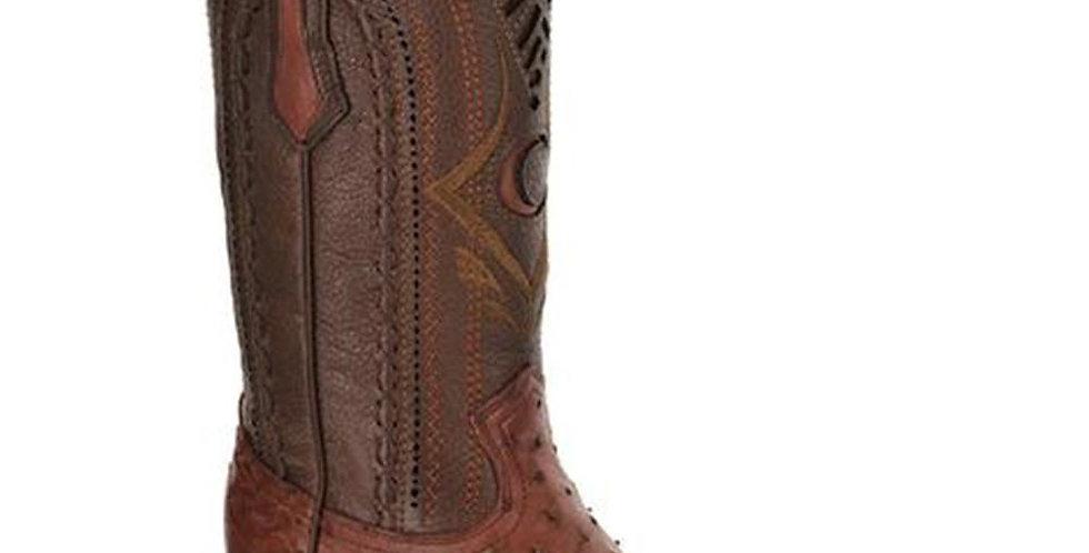 Cuadra Men's European Style Ostrich Boots - Almond
