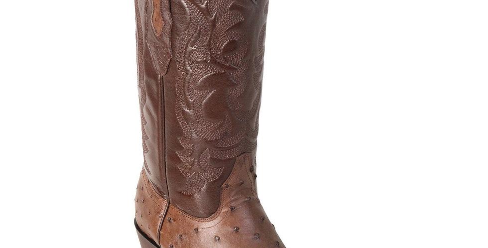 Los Altos Men's Ostrich Snip Toe Cowboy Boots