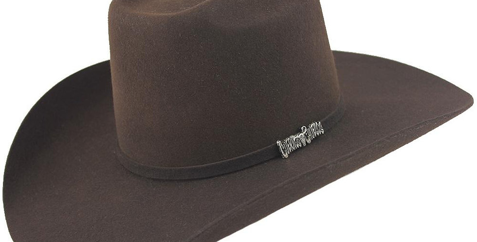Cuernos Chuecos Chocolate 6X Brick Crown Felt Hat