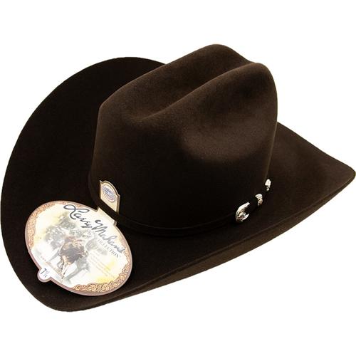 5519de87ad 6x Larry Mahan Real Fur Felt Cowboy Hat Chocolate