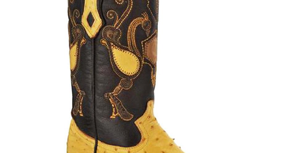 Cuadra Men's Ostrich Cowboy Boots - Yellow