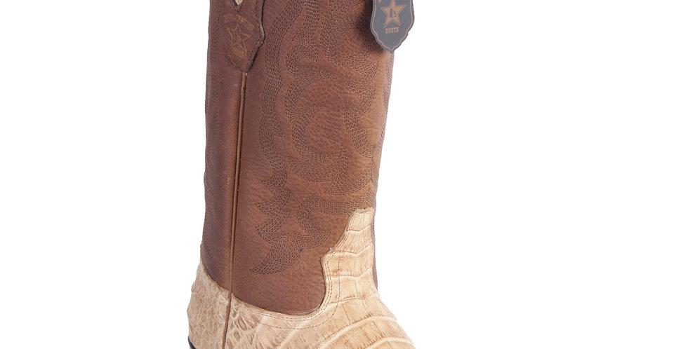 Los Altos Caiman Belly Honey Grasso Cowboy Boots J-Toe