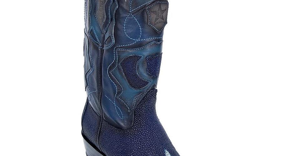 Los Altos Men's Faded Blue Stingray Western Boot