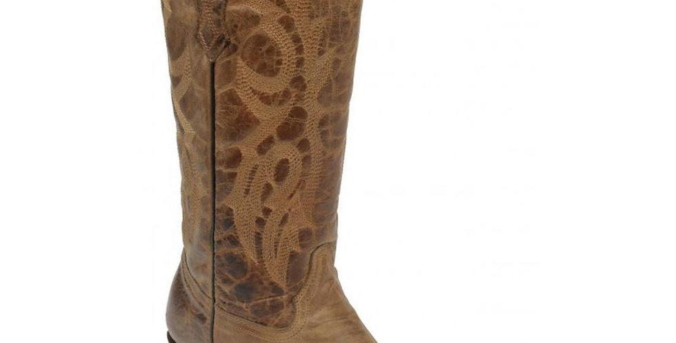 Corral Brown Waxy Tall Snip Toe Boot