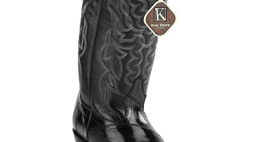 King Exotic Men's Eel Cowboy Boots J Toe